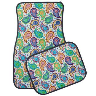 Colorful Retro Paisley Auto Mat