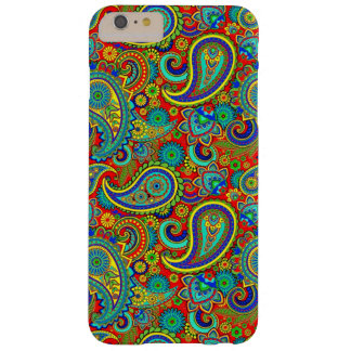 Colorful Retro Paisley Barely There iPhone 6 Plus Case