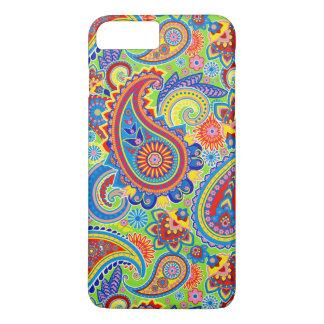Colorful Retro Paisley Pattern iPhone 7 Plus Case