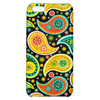 Colorful Retro Paisley Pattern Warm Tones iPhone 5C Cover