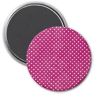 Colorful Retro Polka Dots Fridge Magnet