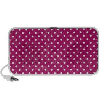 Colorful Retro Polka Dots Notebook Speaker