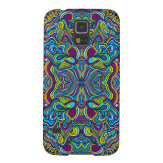 Colorful Retro Psychedelic Abstract Swirls Galaxy S5 Covers