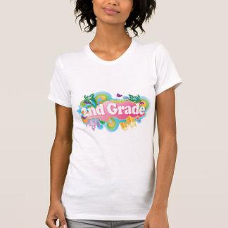 Colorful Retro Second Grade T-Shirt
