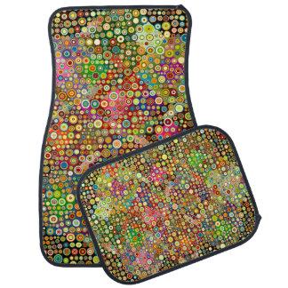 Colorful Retro Spots + your idea Car Mat