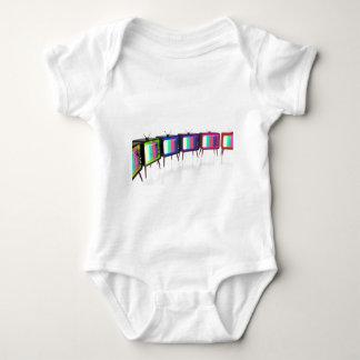 Colorful retro tv's baby bodysuit