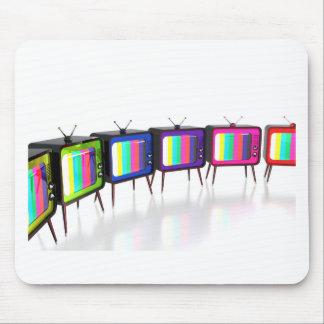 Colorful retro tv's mouse pad