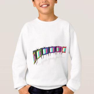 Colorful retro tv's sweatshirt