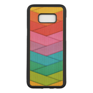 Colorful Ribbon Pattern Carved Samsung Galaxy S8+ Case