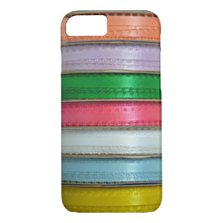 Colorful ribbons print iphone wallet case