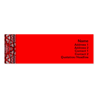 Colorful Ripples Big Transparent Pack Of Skinny Business Cards