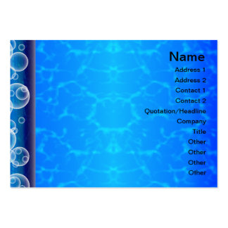 Colorful Ripples Big Transparent Large Business Card