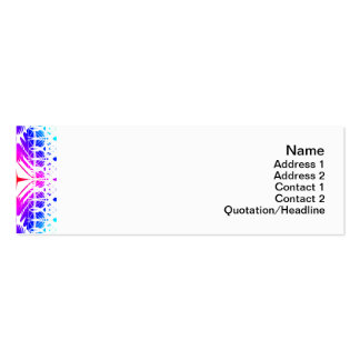 Colorful Ripples Big Transparent Mini Business Card