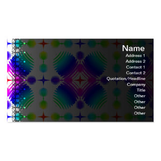 Colorful Ripples Big Transparent Pack Of Standard Business Cards