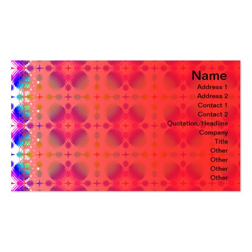 Colorful Ripples Small Transparent Business Cards