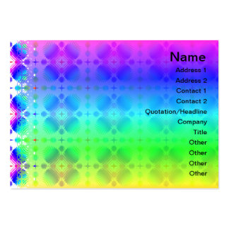 Colorful Ripples Small Transparent Large Business Card