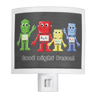 Colorful robots illustration nite lite