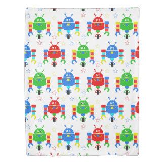 Colorful Robots Kids Duvet Cover