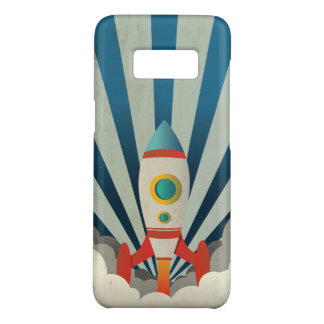 Colorful Rocket w/ Blue Rays and White Smoke Case-Mate Samsung Galaxy S8 Case