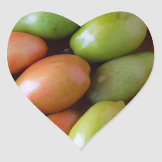 Colorful_Roma_Tomatoes Heart Sticker