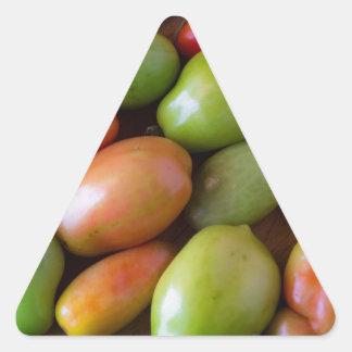 Colorful_Roma_Tomatoes Triangle Sticker