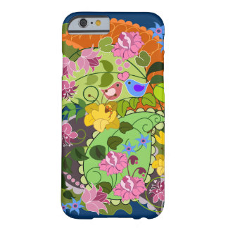 Colorful Romantic faux Vintage Floral & swirls Barely There iPhone 6 Case