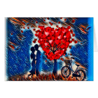 Colorful Romantic Forever Love Card