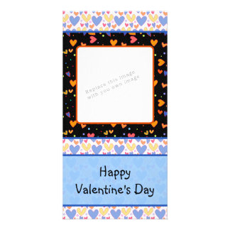 Colorful romantic heart design photo cards