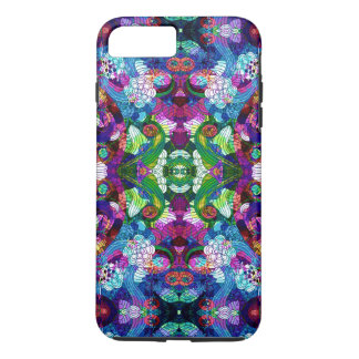 Colorful Romantic Retro Floral Symmetrical Collage iPhone 7 Plus Case