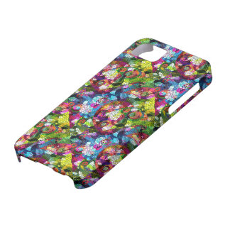 Colorful Romantic Vintage Floral Pattern 2 iPhone 5 Cover