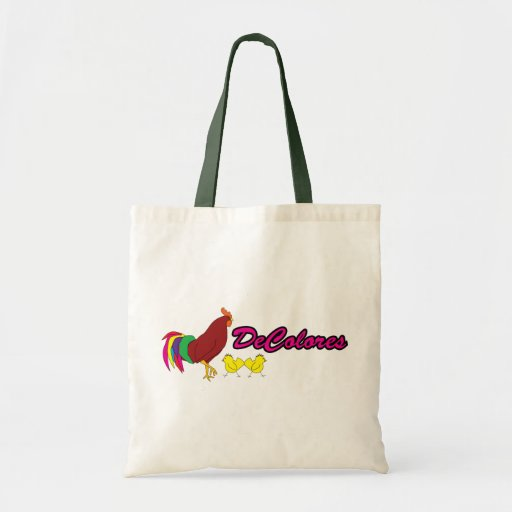 Colorful Rooster Canvas Bag