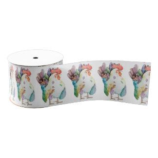 Colorful Rooster Grosgrein Ribbon Grosgrain Ribbon