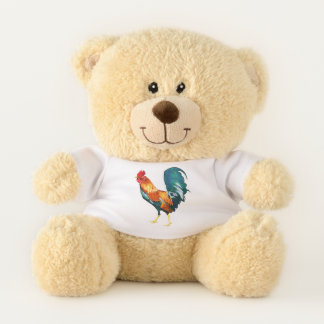 Colorful Rooster Teddy Bear
