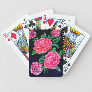 Colorful Rose Flowers Bicycle Playing Cards