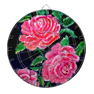 Colorful Rose Flowers Dartboard