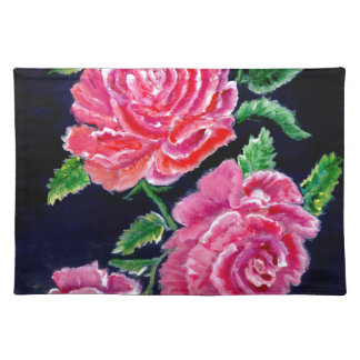Colorful Rose Flowers Placemat