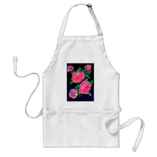 Colorful Rose Flowers Standard Apron