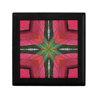 Colorful Rose Green Geometrical Pattern Gift Box