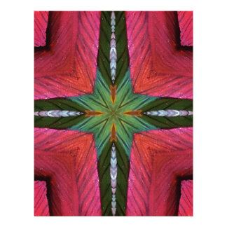 Colorful Rose Green Geometrical Pattern Letterhead