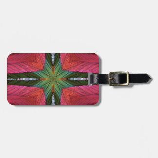 Colorful Rose Green Geometrical Pattern Luggage Tag