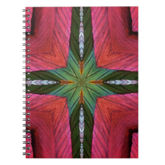 Colorful Rose Green Geometrical Pattern Spiral Notebook