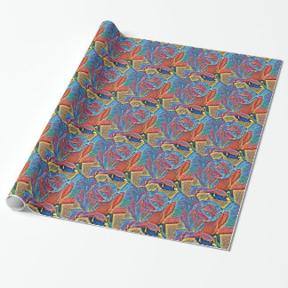 Colorful Rose Tiled Wrapping Paper