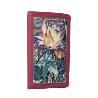 Colorful Rose Tri-fold Wallet