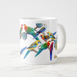 Colorful Rosella Parrots Jumbo Mug