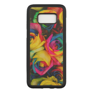 Colorful roses carved samsung galaxy s8 case