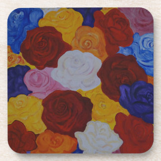 colorful roses coaster