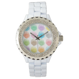 Colorful roses pattern watch