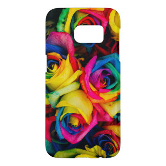 Colorful roses samsung galaxy s7 case
