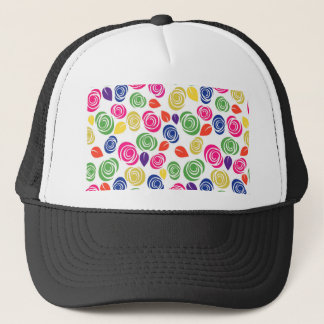 Colorful roses trucker hat