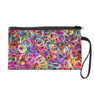 Colorful Rubberbands Wristlet Clutches